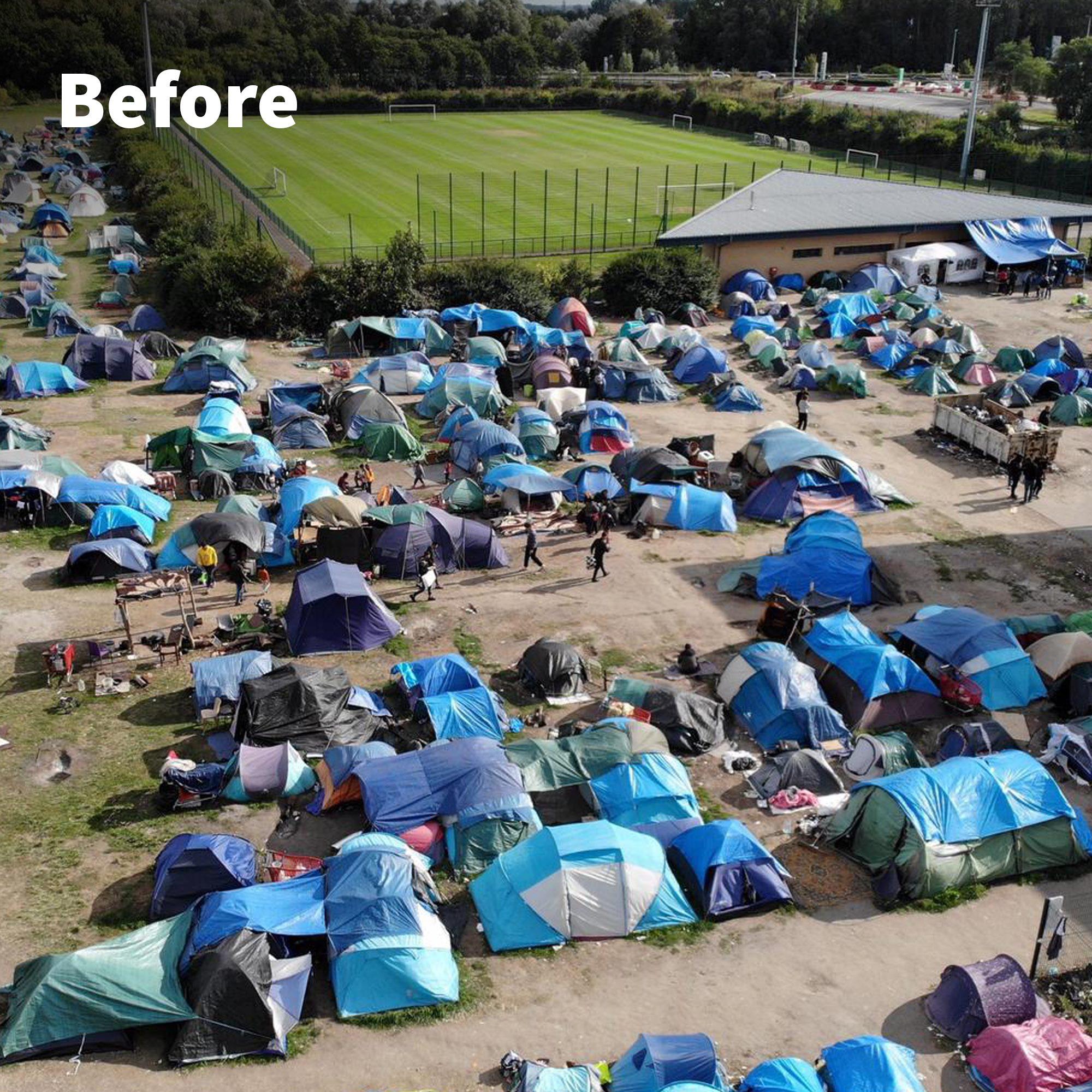 10. Hilfslieferung – nach Calais, Frankreich
