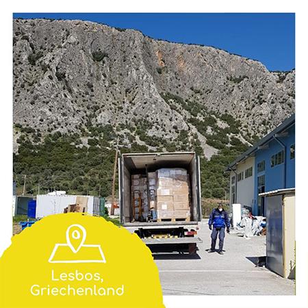 14. Hilfslieferung – nach Lesbos