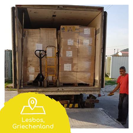 8. Hilfslieferung – nach Lesbos