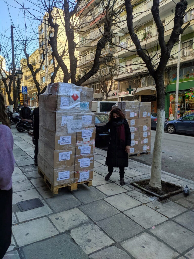 32. Hilfslieferung – nach Thessaloniki, Griechenland